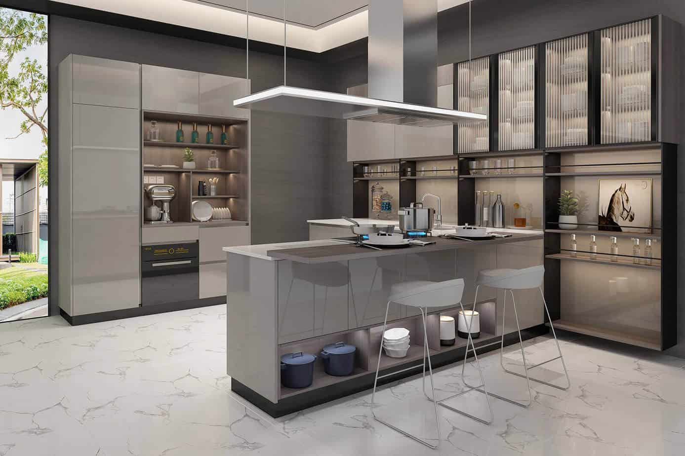 Acrylic Kitchen Cabinets 1