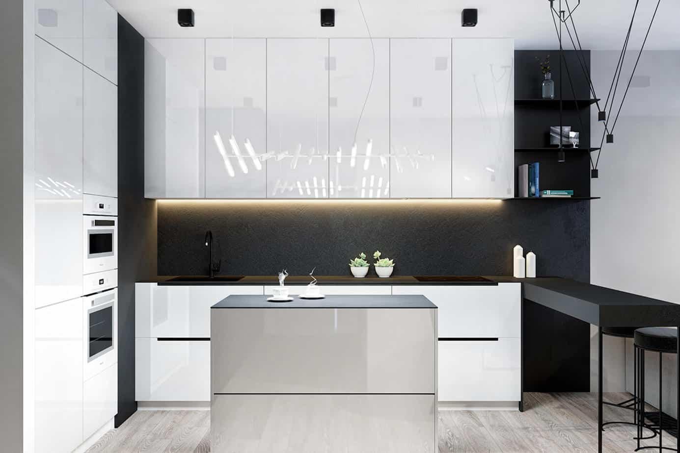High Gloss Acrylic Kitchen Cabinet
