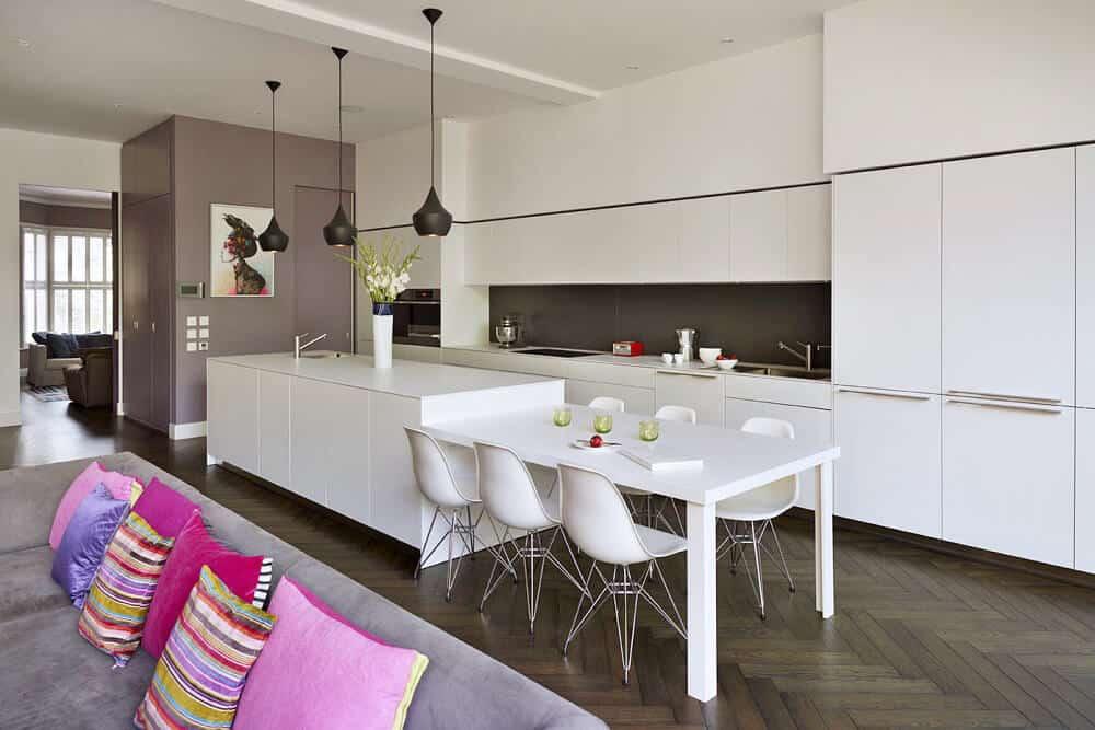 White Acrylic Kitchen Cabinet
