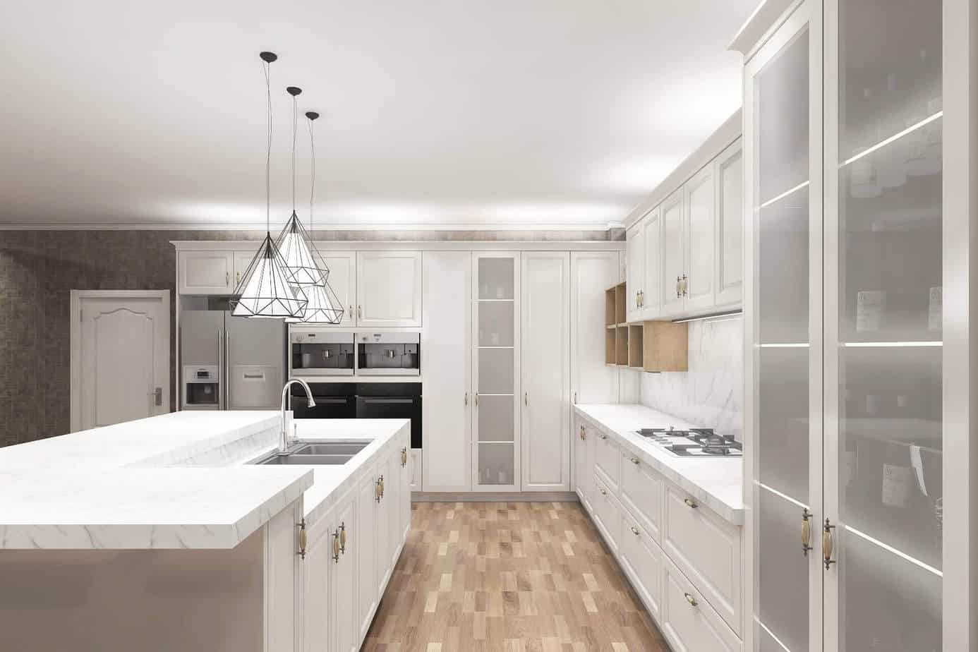 Flat Pack Solid Wood Kitchen Cabinets