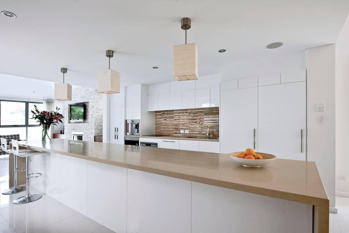 High Gloss Handleless Kitchen Cabinets