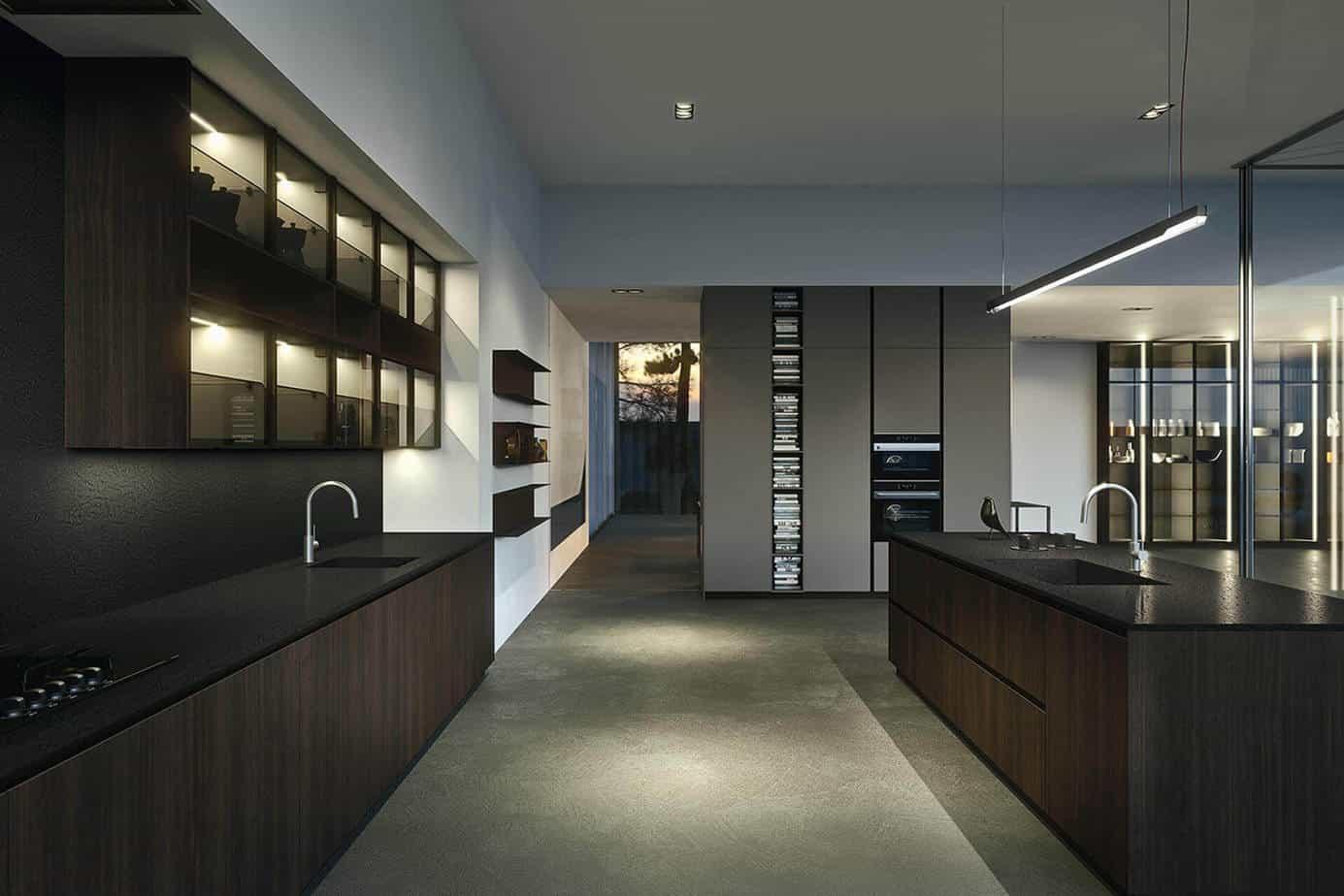 Black Walnut Kitchen Cabinets