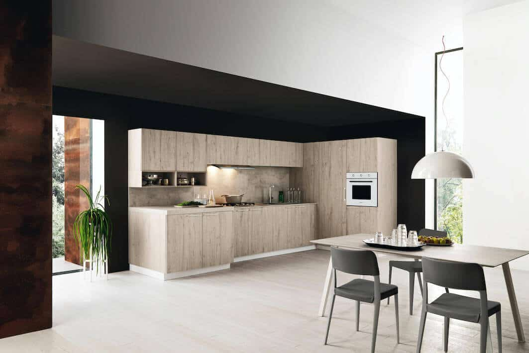 China Solid Wood Kitchen Cabinets