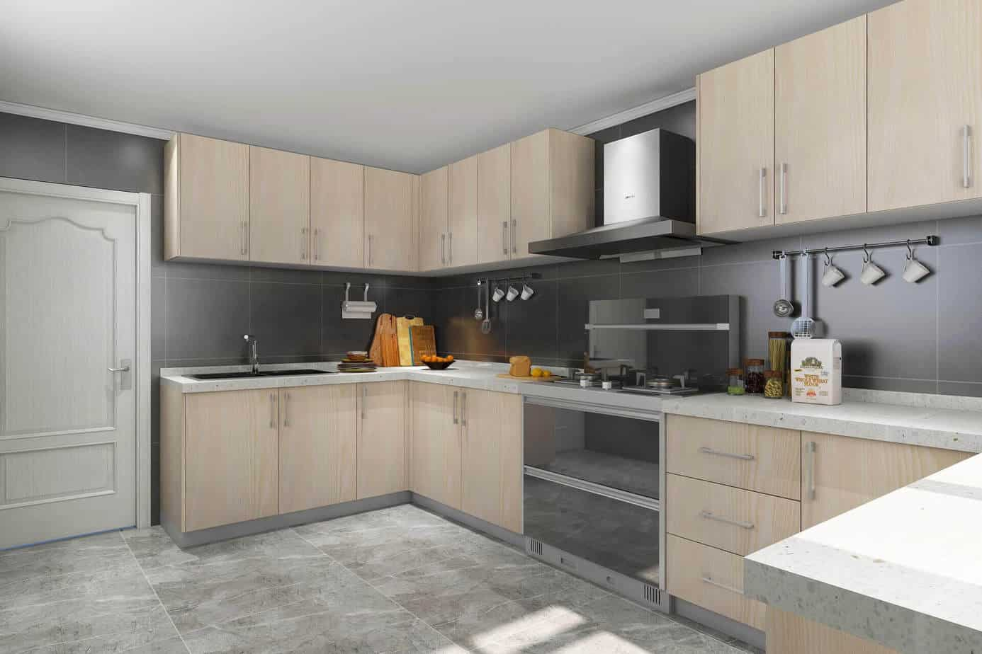 China Solid Wood Kitchen Cabinets 11