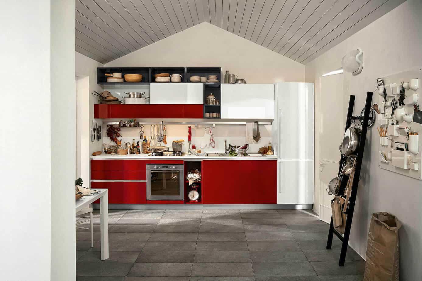 High Gloss Flat Panel Kitchen Cabinets