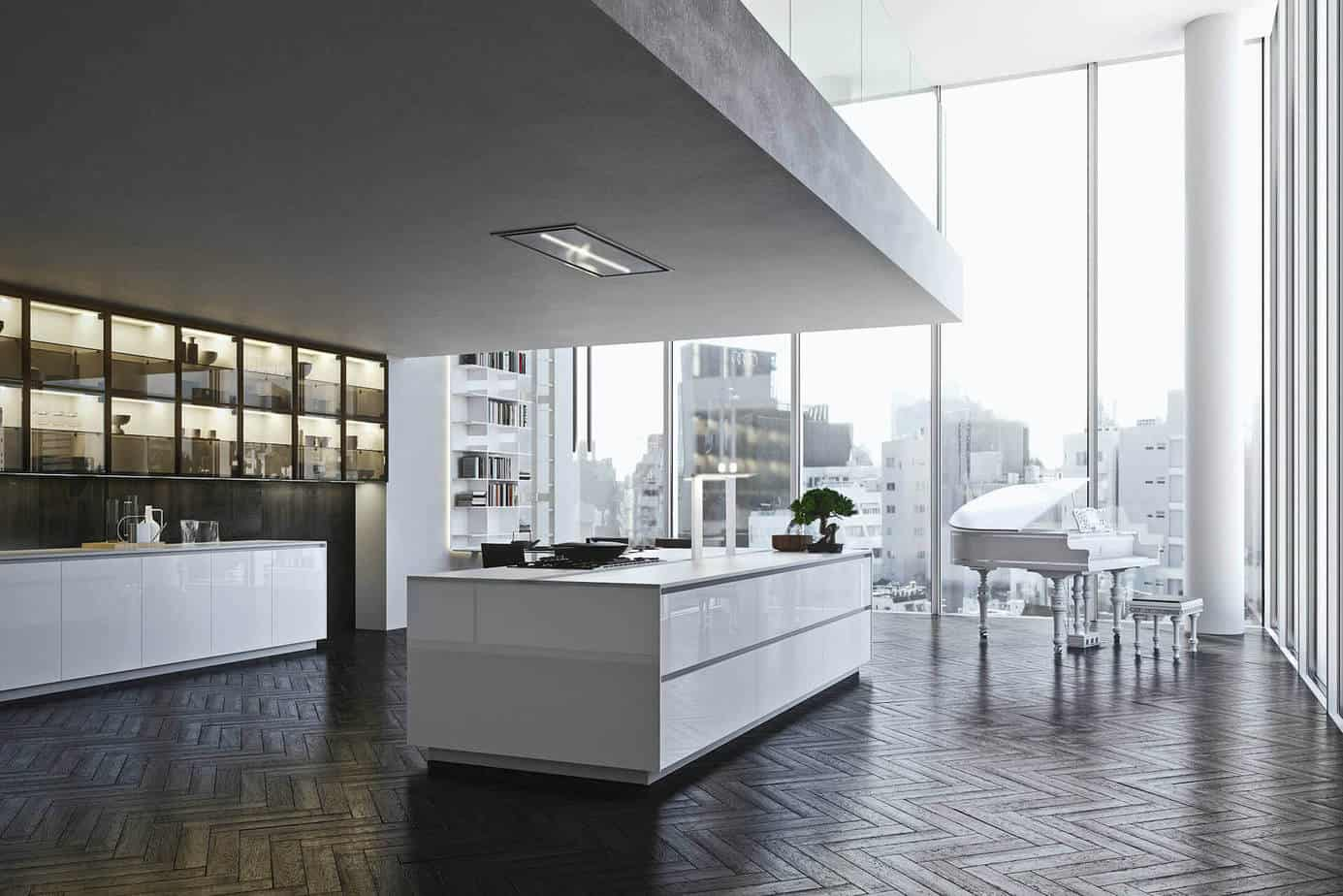 White Gloss Laminate Kitchen Cabinets