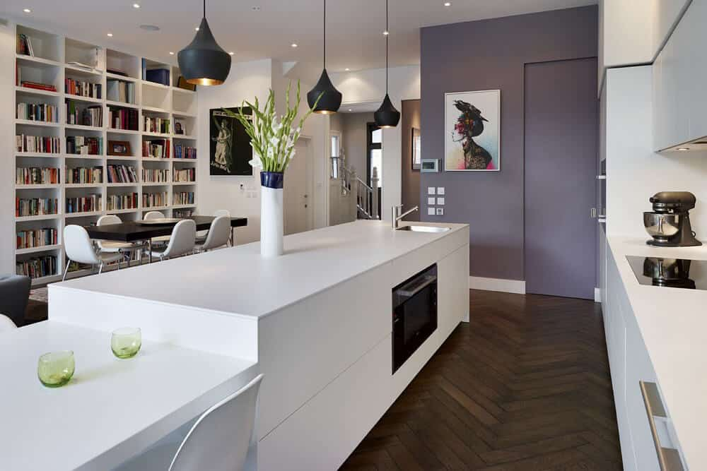 Modern Lacquer Kitchen Cabinets