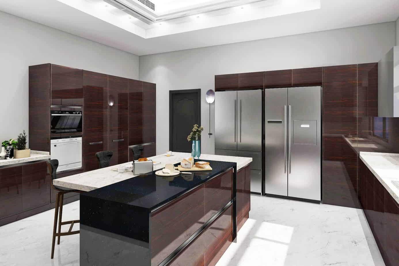 Plastic Veneer Kitchen Cabinets