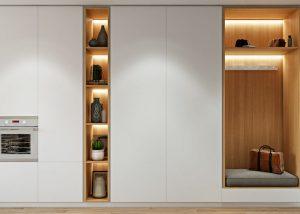 White corner wardrobe