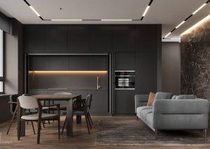 Black RTA kitchen cabinets
