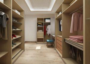 Modern oak wardrobe