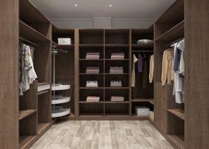 Solid wood wardrobe closet