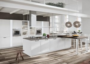 White Flat Panel Kitchen Cabinets